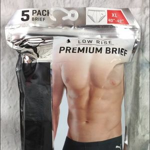 Puma Men's Low Rise Premium Briefs XL 5 Pairs